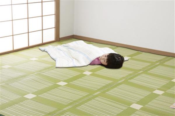 日本アトピー協会推薦カーペット クリーンラグ ブラウン 本間8畳 382×382cm