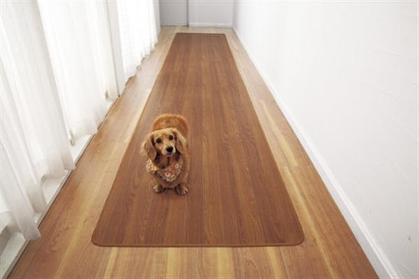 木目調廊下敷きブラウン 80×440cm
