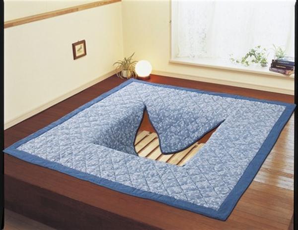 『1年保証』 新色 しじら織掘こたつ用ボリュームラグ長方形 200×250cm