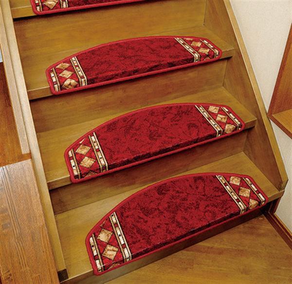 ヨーロピアン階段マット 14枚組 レッド