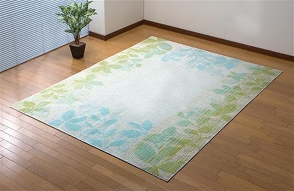洗える綿混カーペットブロック柄185×240cm