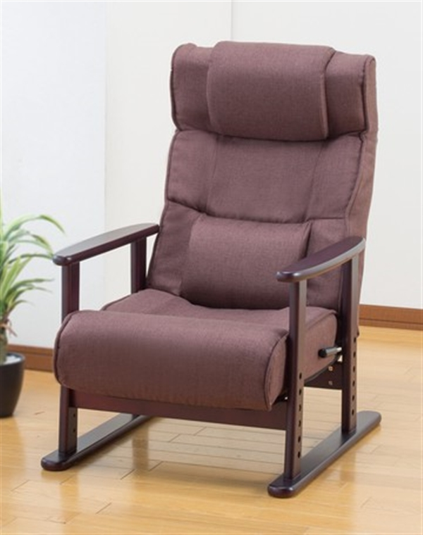 TVが見やすいリクライニング高座椅子 ブルー