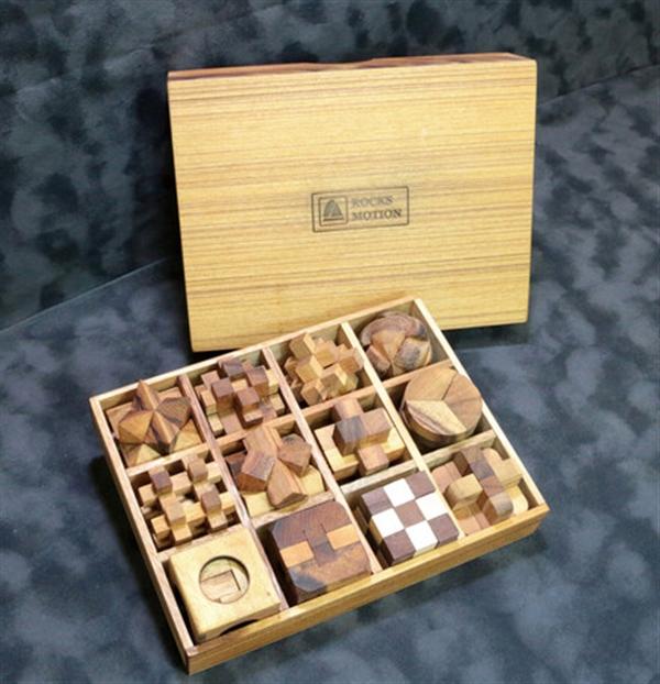 木製パズル12個セット