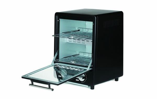 人気 おすすめ 縦型2段オーブントースターブラック メーカー直送