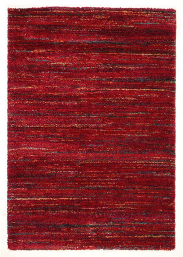 ベルギー製 ウィルトン織ラグ 長毛 「SHERPA COSY」 レッド 約140X200cm