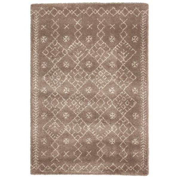 ベルギー製 ウィルトン織ラグ 長毛 「ROYAL NOMADIC モロッコ」 ブラウン 約160X230cm