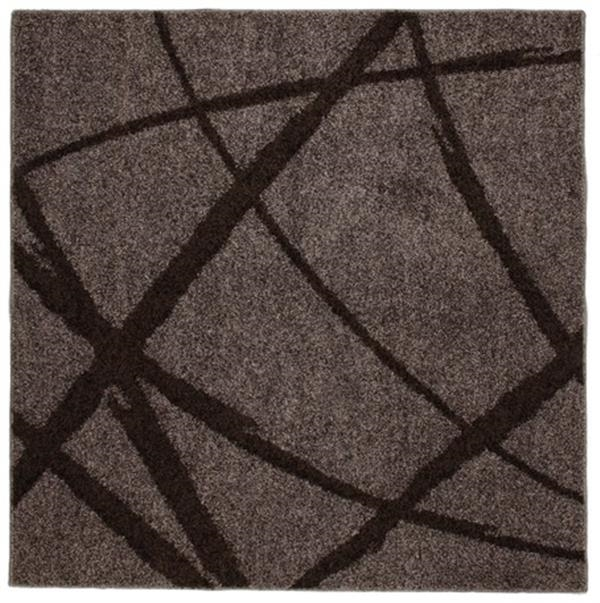 【防ダニ・抗菌・防臭】タフトラグ 日本製「ボールド」ブラウン 約190×240cm
