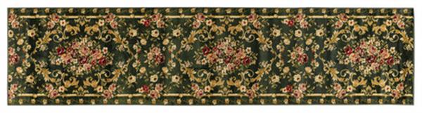 廊下敷き「ロゼ」グリーン 毛足約10mm ふっくら ウィルトン織 約95×700cm