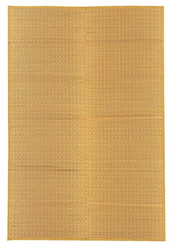 い草 国産 花ござ 掛川織 ドット柄 「吉兆(きっちょう)」 ベージュ 江戸間8畳