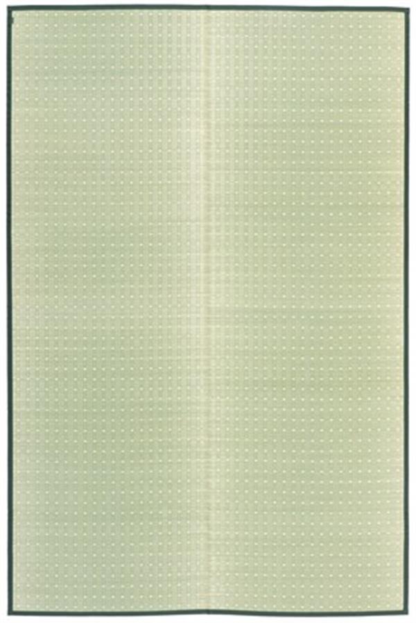 い草 国産 花ござ 掛川織 ドット柄 「吉兆(きっちょう)」 ナチュラル 江戸間2畳