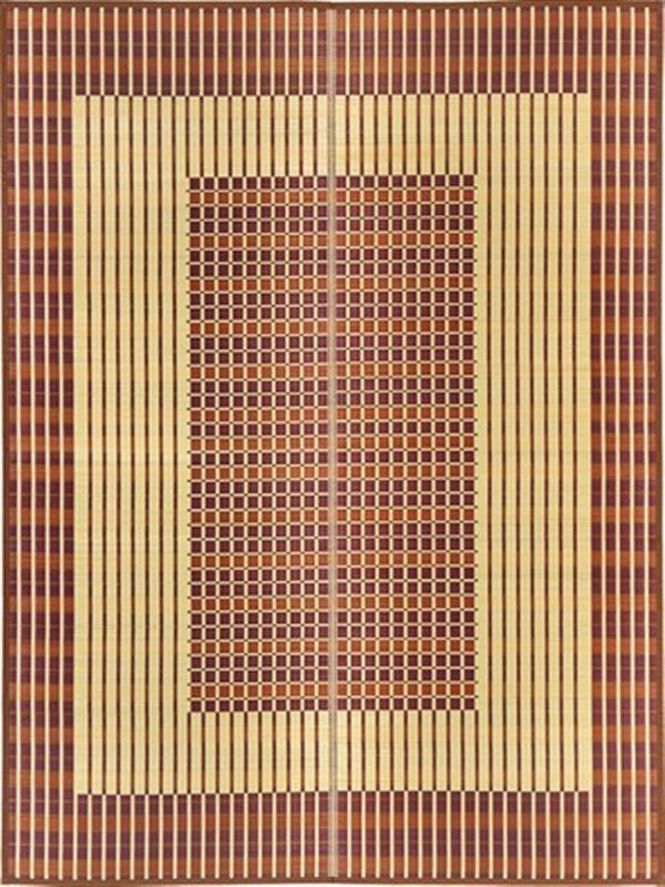 国産 い草ラグ カーペット 裏貼無・裏貼有「築彩」 ブラウン 裏貼無:約261×261