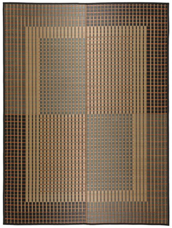 国産 い草ラグ カーペット 裏貼無「右京」 グレー 約191×191