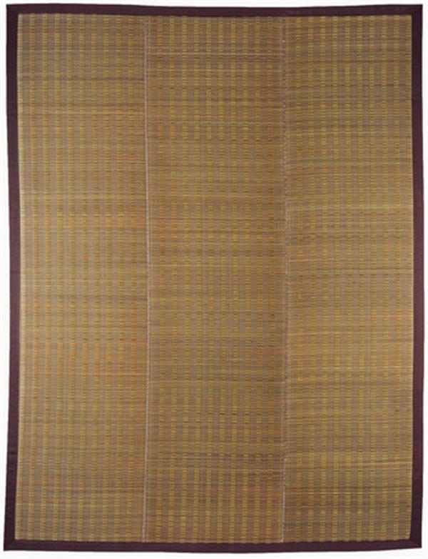 い草ラグ ウレタン入り コンパクト収納 裏貼有「仙名」ベージュ 約180×180cm