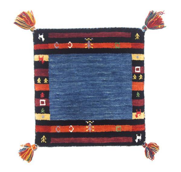 【ギャッべ ラグ・マット】 手織り インド製「LORRI BUFFD L7」 約70×120cm