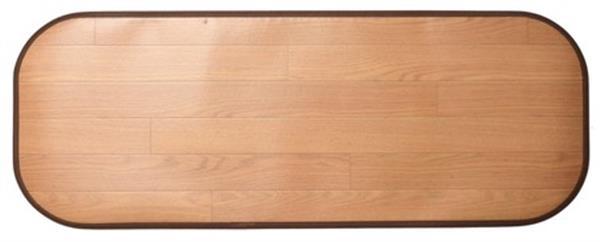 キッチンマット 木目調 撥水・消臭・抗菌 滑り止めシート付き 「ニオクリン」ライトベージュ 約90×240cm