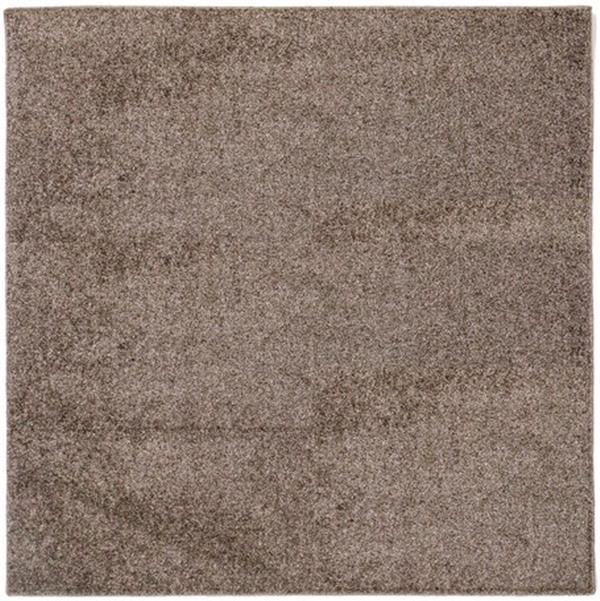 【防ダニ・抗菌・防臭】タフトラグ 日本製「デタント(折りたたみ)」 ブラウン 約185×185cm