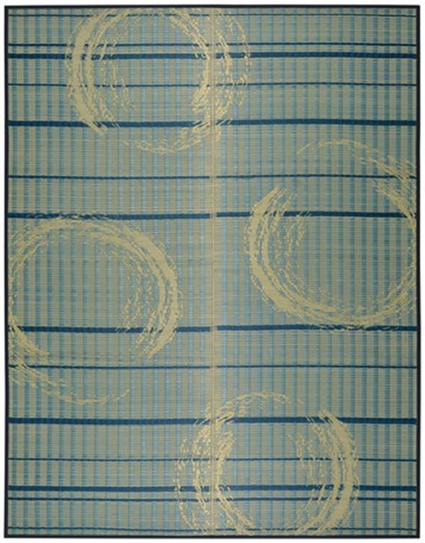 【2019新作】い草センターラグ 裏貼有 伝統の和柄「ちぢみ渦」 約191×240cm
