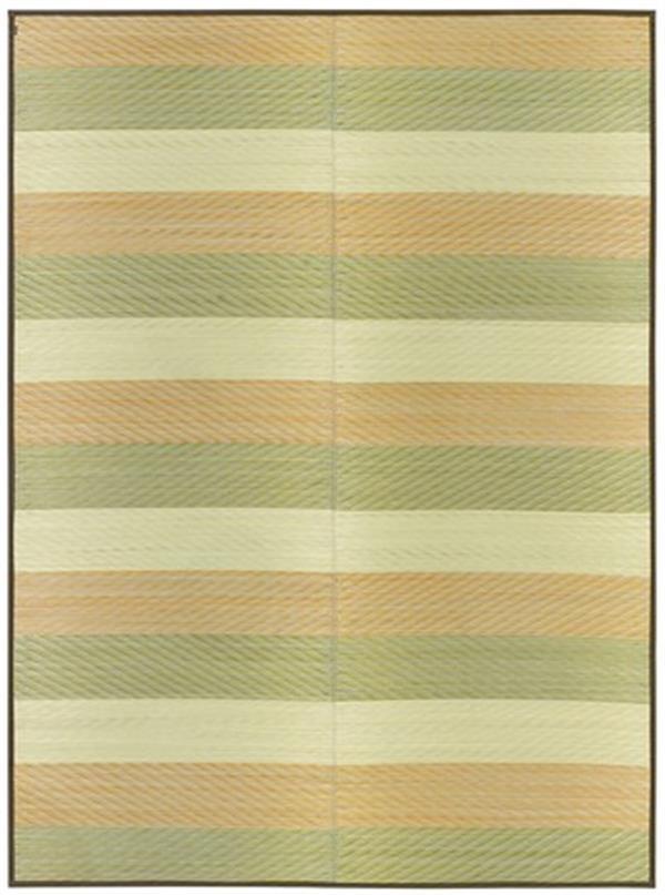 国産い草センターラグ 裏貼有「レーヴ」 グリーン 約191×191cm