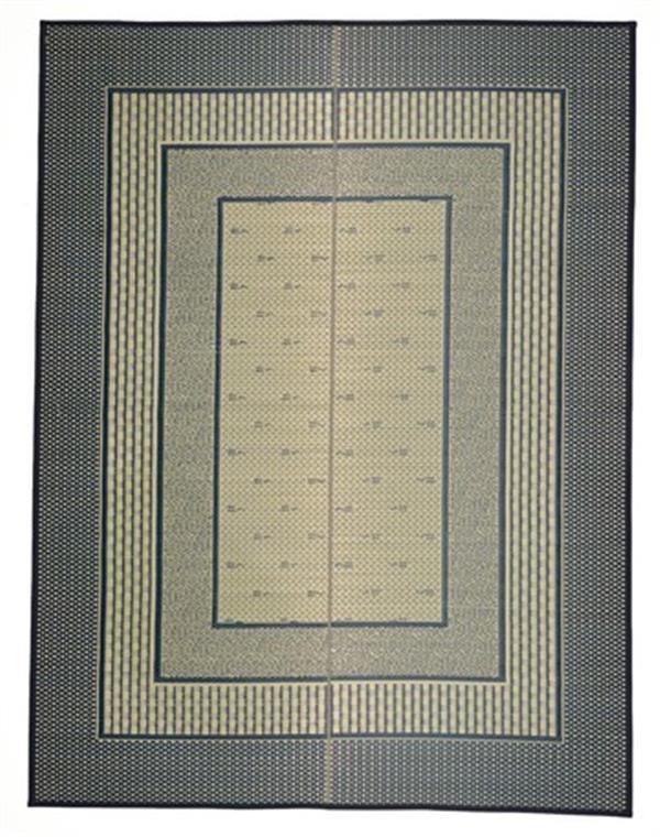 国産い草センターラグ 裏貼有「エルモード」 ブルー 約191×250cm