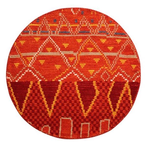 ラグ ウール100% 「クームース ガンター」 オレンジ 約130×190cm