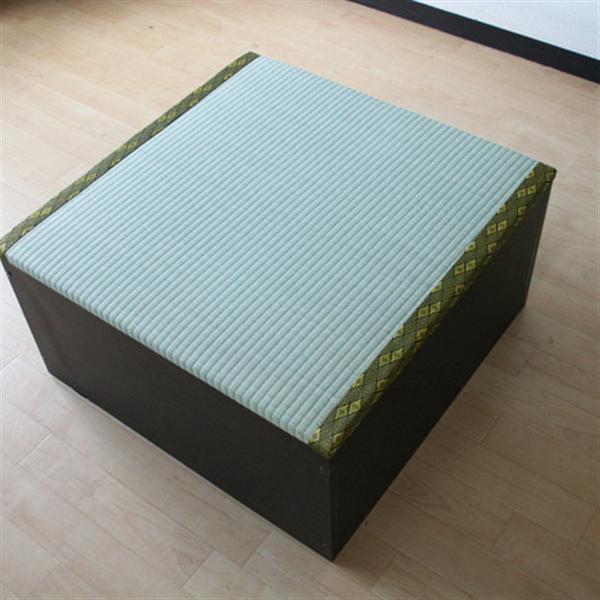 高床式ユニット畳(半畳タイプ)ダークブラウン