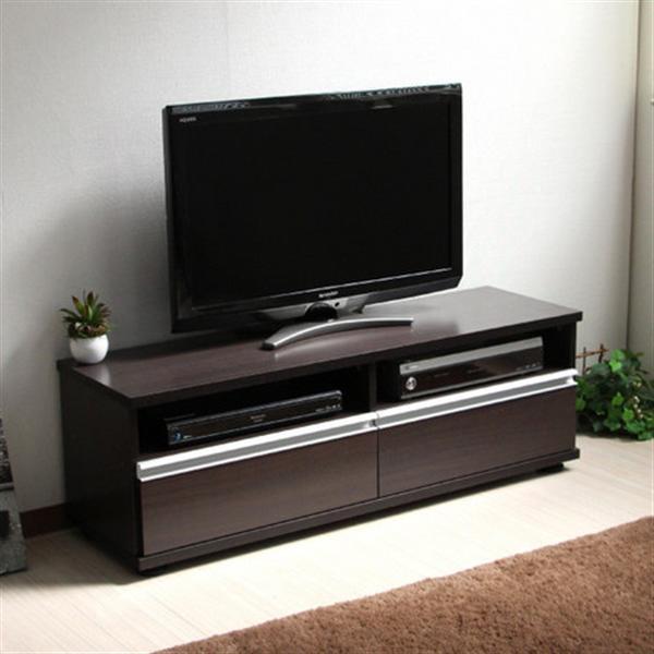 テレビボード 120cm ロータイプ TV台 50インチ 大型テレビ対応 ダークブラウン