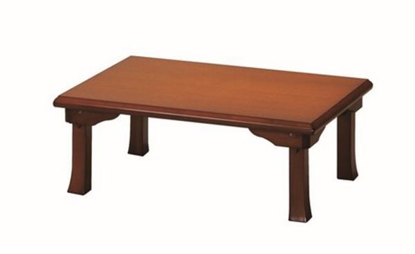 座卓(折脚) 幅90cm TWZC9060BR ブラウン