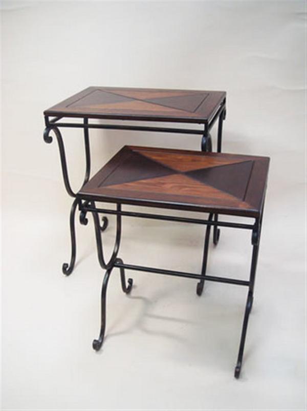 アンティーク調 ネストテーブル 2個SET