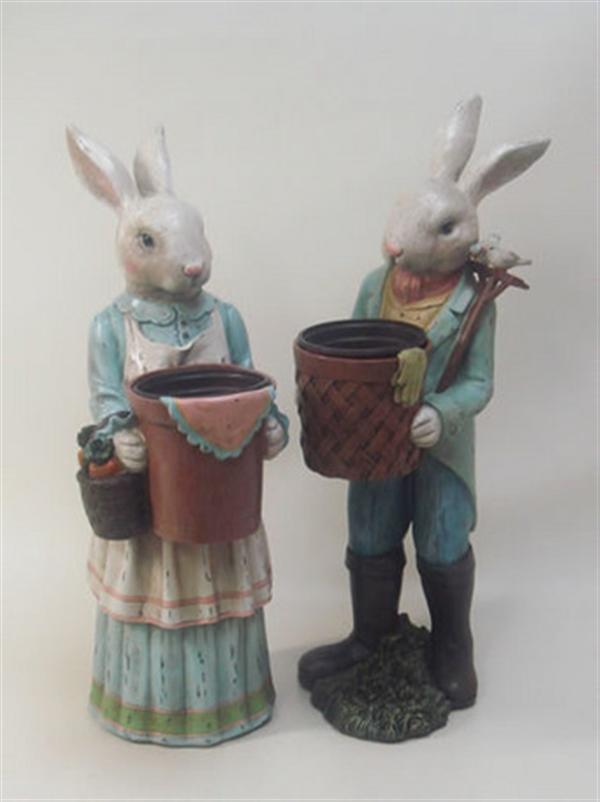 フラワーポット 鉢カバー プランター ウサギ 2個セット