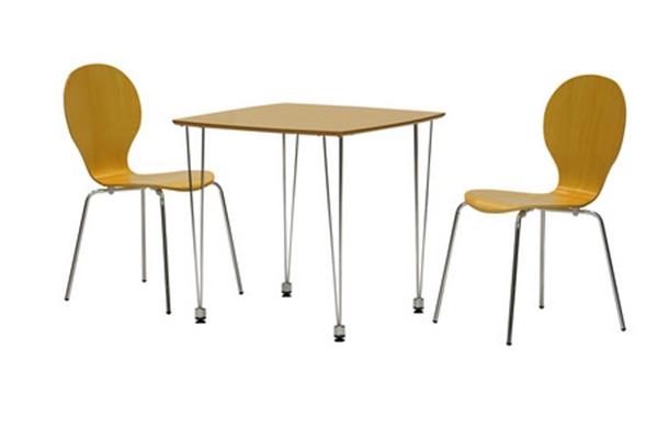 シンプルなデザインのダイニングセット<ダイニングセット コープNA> 90丸ダイニングテーブル ナチュラル