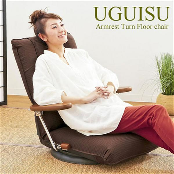 【5月末頃入荷】 ポンプ肘式回転座椅子 YS-1375D グリーン