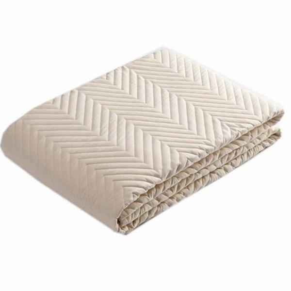 ベッドパッド 側地にミラクルリリース使用、汚れが落ちやすい ベージュ(セミダブル)