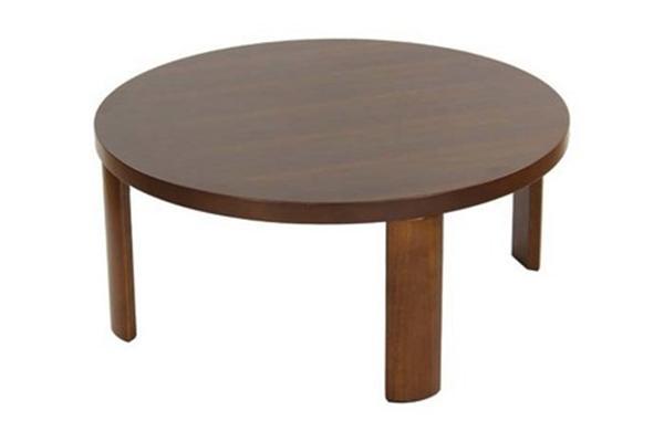 80cm 丸 ウォールナット突板を使った 座卓テーブル 27-512:丸型座卓テーブル:カレン80: