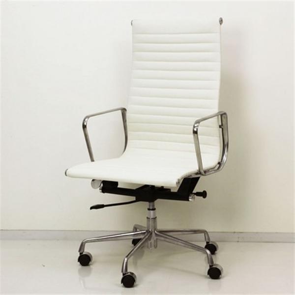 【最高級の座り心地。シックな大人のワークチェア】アルミナムグループチェア ハイバック ホワイト