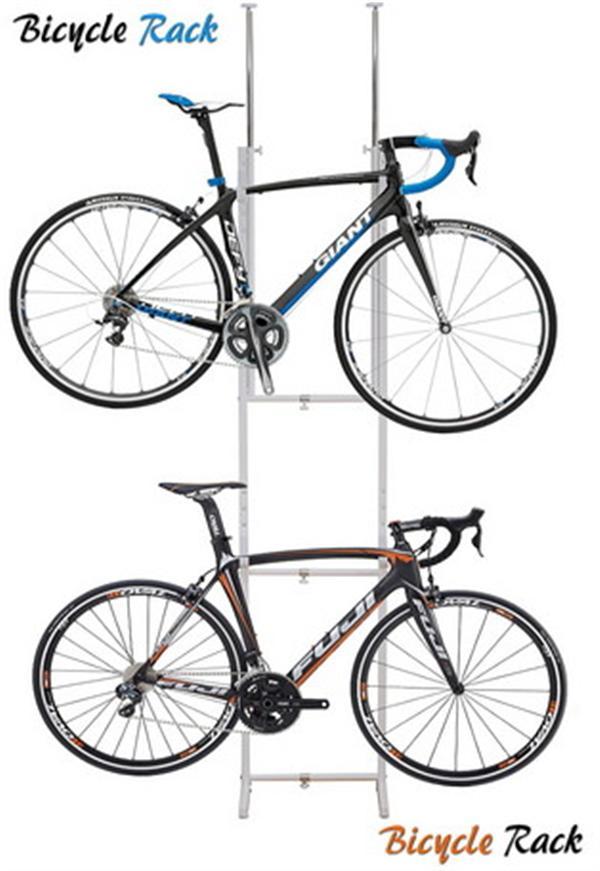 室内用/ツッパリ式自転車ラック【ホワイト】 SB-01/ホワイト