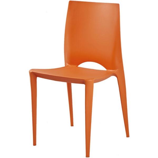 おしゃれ 椅子/カフェチェア/ガーデンチェア/スタッキング/ダイニングチェア オレンジ