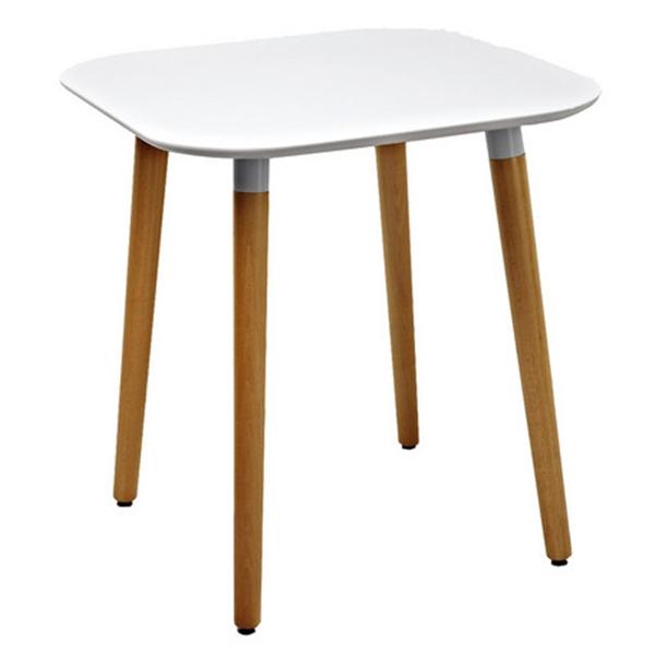 PPテーブル(ホワイト)/カフェテーブル/ダイニングテーブル/店舗用テーブル/木製 ホワイト