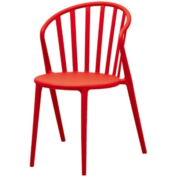 おしゃれ 椅子/カフェチェア/ガーデンチェア/スタッキング/店舗用イス レッド
