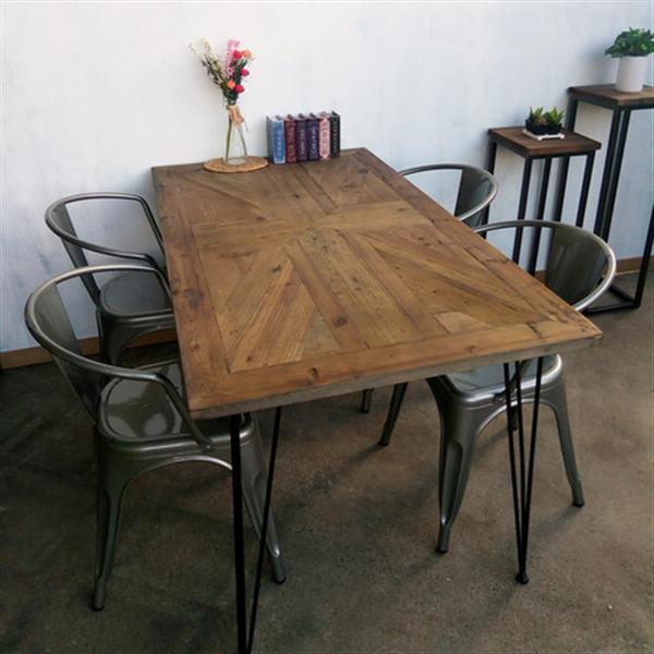 KOZAIダイニングテーブル ユニオンジャック柄 古材 ・ブルックリンスタイル