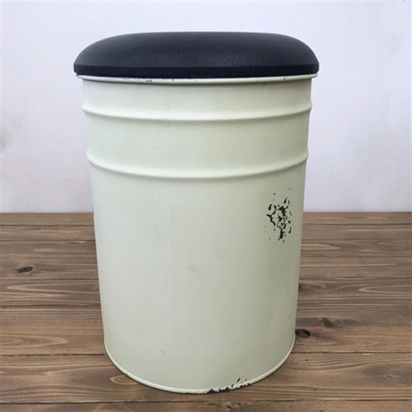 ドラムスツール クリーム カフェ空間・アンティーク調・収納家具