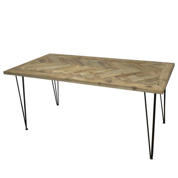 KOZAIダイニングテーブル ヘリンボーン柄W1600 古材 ・ブルックリンスタイル