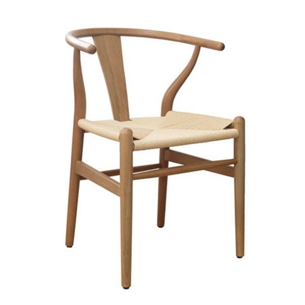 ワイエーチェア ベージュ ペーパーコード・ウッド・木製・リプロダクト