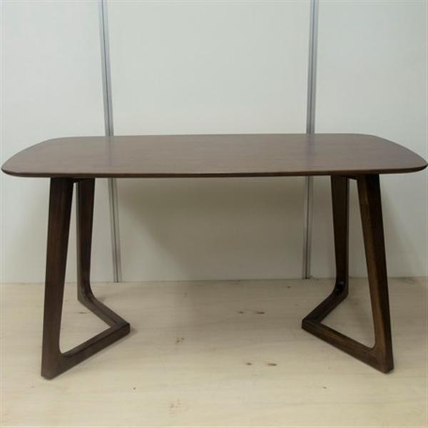 ダイニングテーブル/1485-1T 木製・ラバーウッド・北欧・エコ・ウォールナット色