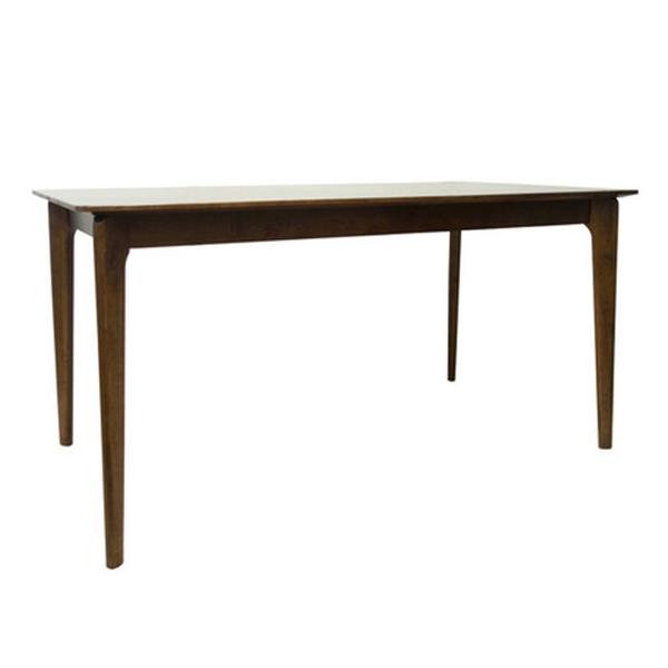 ダイニングテーブル/147-7T 木製・ラバーウッド・北欧・エコ・ウォールナット色
