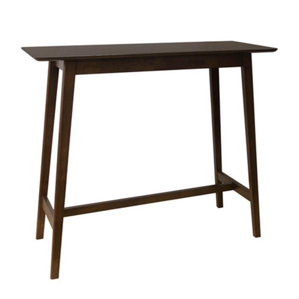ハイテーブル/1245T 木製・ラバーウッド・北欧・エコ・ウォールナット色