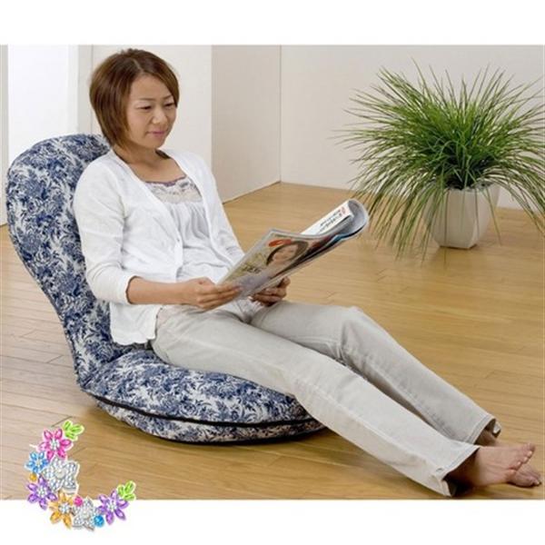 円満座椅子<腰から背中をしっかり受け止める> ブラウン系