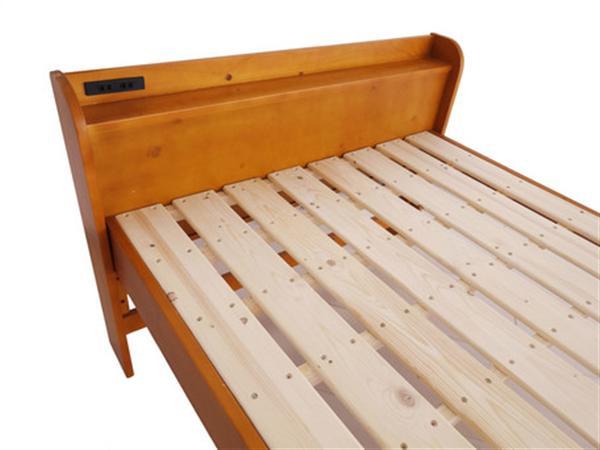 棚付きすのこベッド(スタンド式) セミダブルNA/DBR