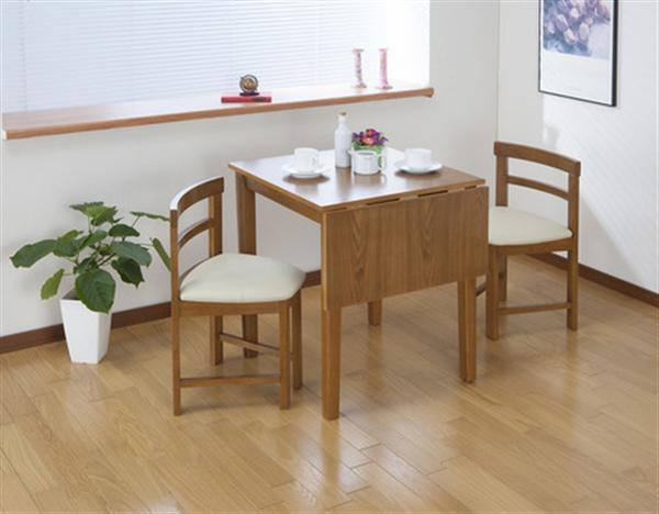 【組立式】コンパクト片バタダイニングテーブル ダークブラウン