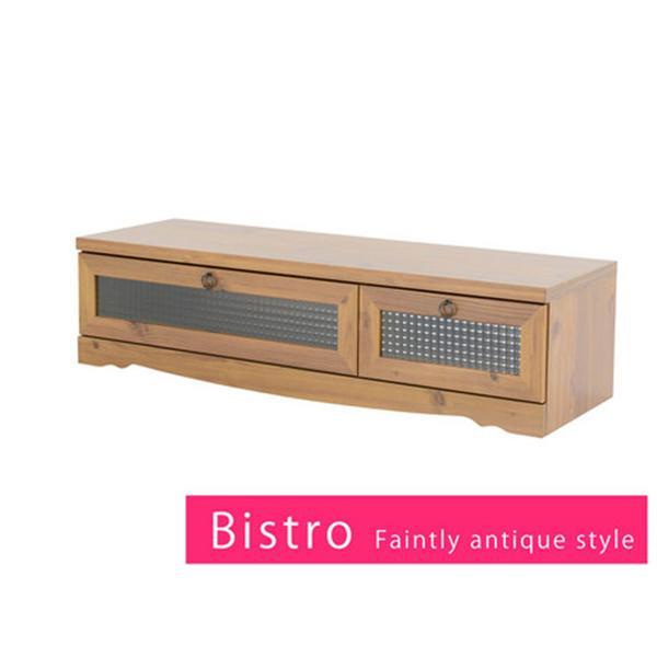 Bistro テレビ台 ローボード(120cm幅)ライトブラウン