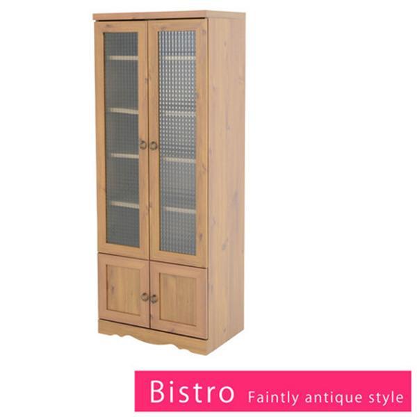 Bistro 食器棚 カップボード(60cm幅)ライトブラウン